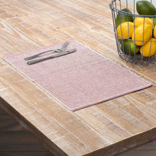 Ashton Rust Ribbed Placemat Set of 6 12x18 - Woodrol