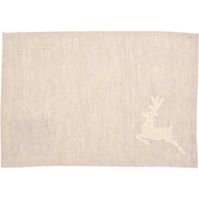 Creme Lace Deer Placemat Set of 6 12x18 - Woodrol