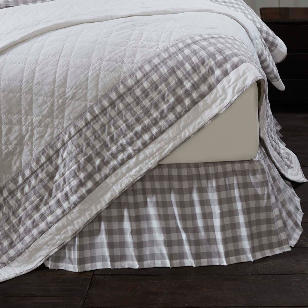 Annie Buffalo Grey Check Queen Bed Skirt 60x80x16 - Woodrol