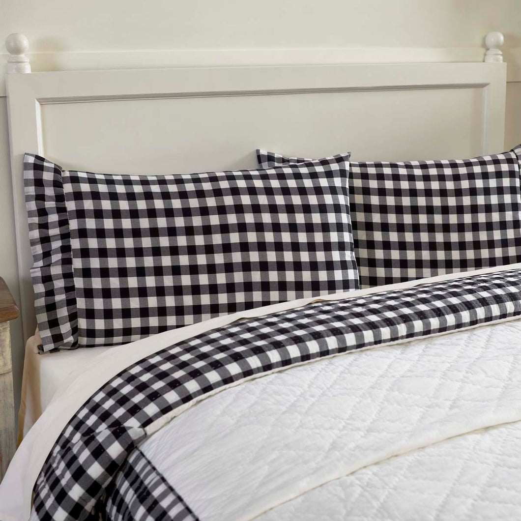 Annie Buffalo Black Check Standard Pillow Case Set of 2 21x30 - Woodrol