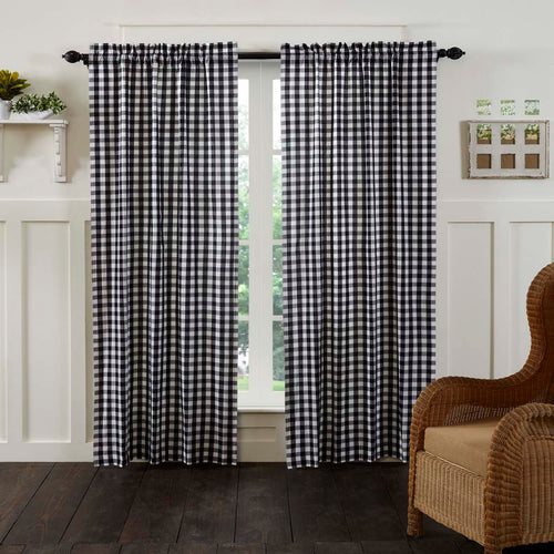 Annie Buffalo Black Check Panel Set of 2 84x40 - Woodrol