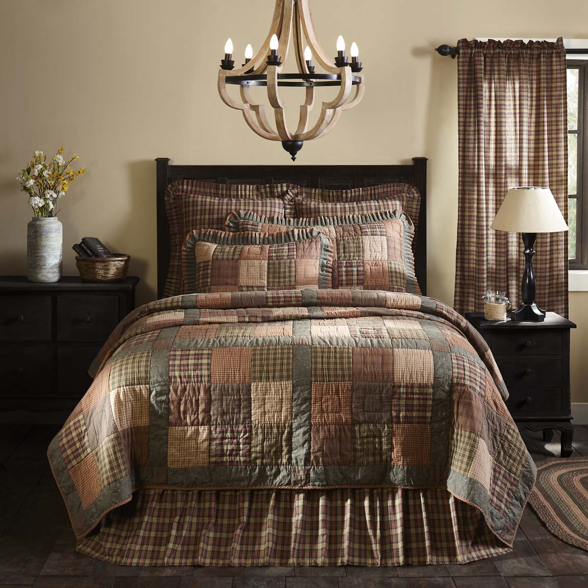 Crosswoods King Quilt 105Wx95L - Woodrol