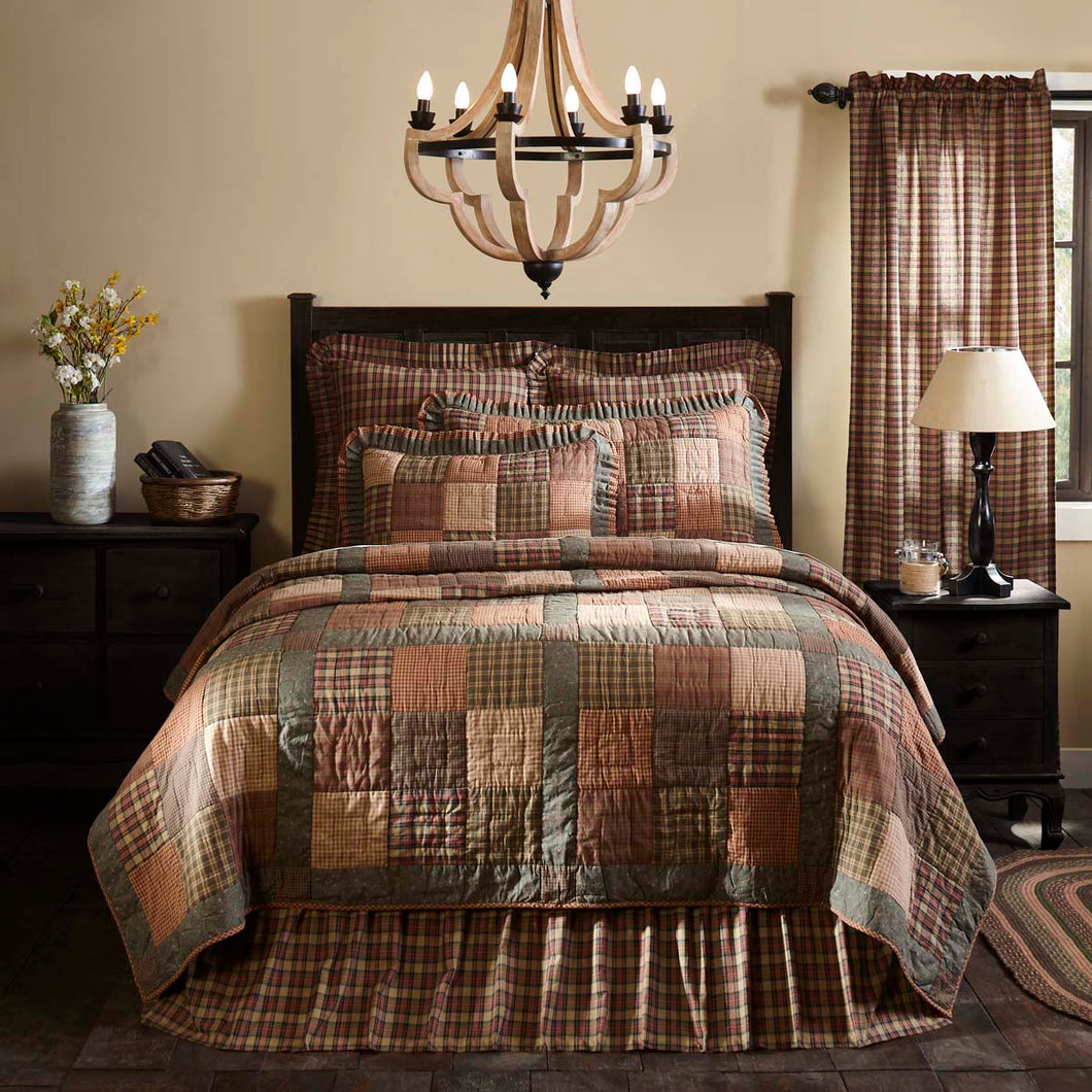 Crosswoods Twin Quilt 68Wx86L - Woodrol