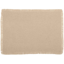 Burlap Vintage Placemat Set of 6 Fringed 12x18 - Woodrol