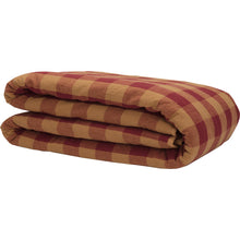 Burgundy Check Queen Quilt Coverlet 90Wx90L - Woodrol