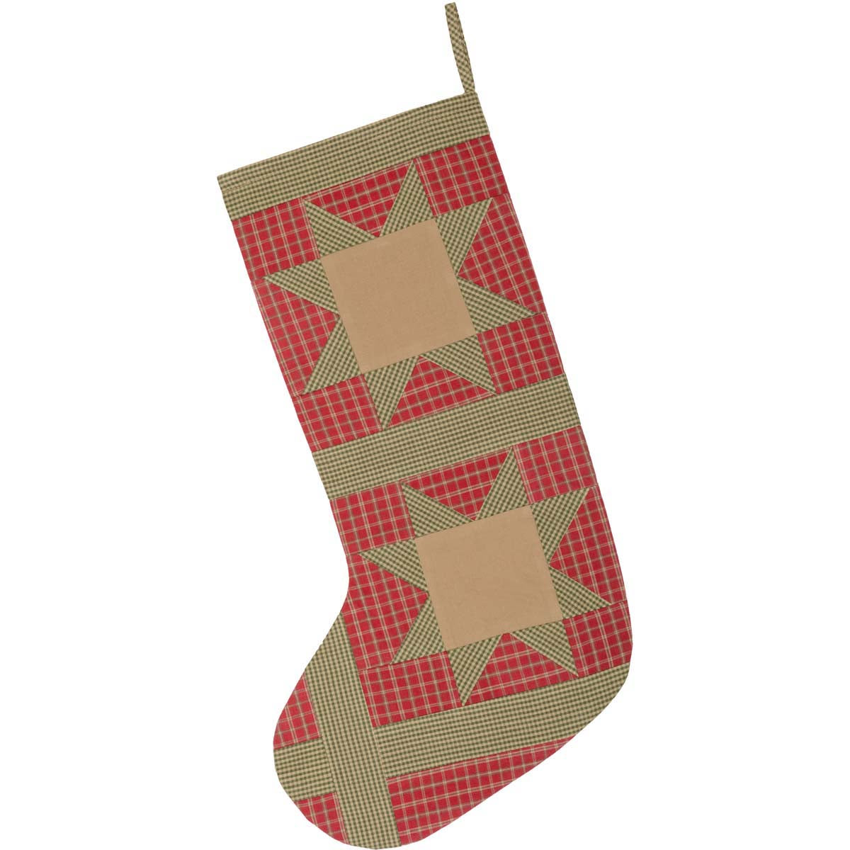 Dolly Star Red Patch Stocking 12x20 - Woodrol
