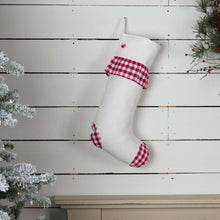 Emmie Red Check Ruffle Stocking 12x20 - Woodrol