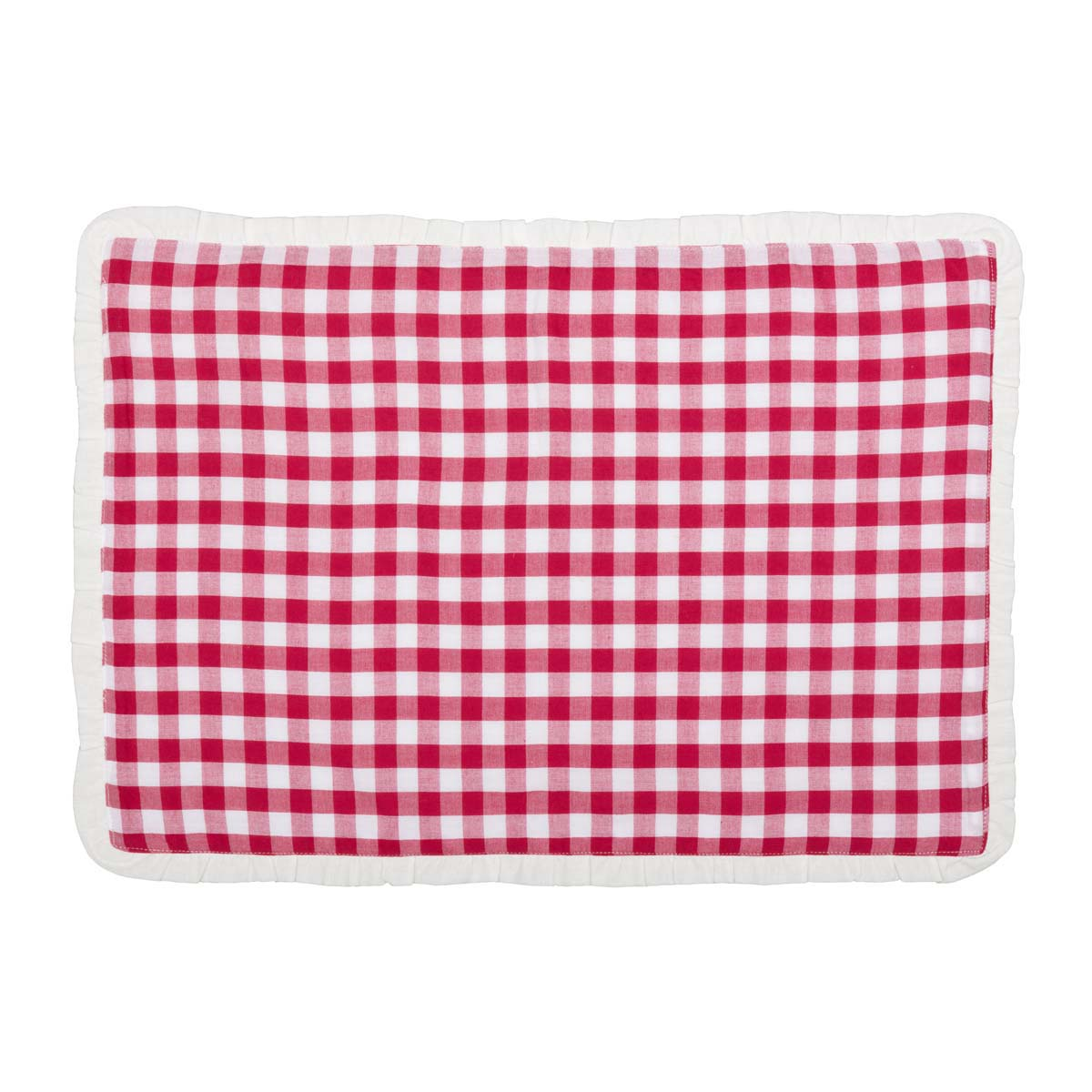 Emmie Red Placemat Set of 6 12x18 - Woodrol