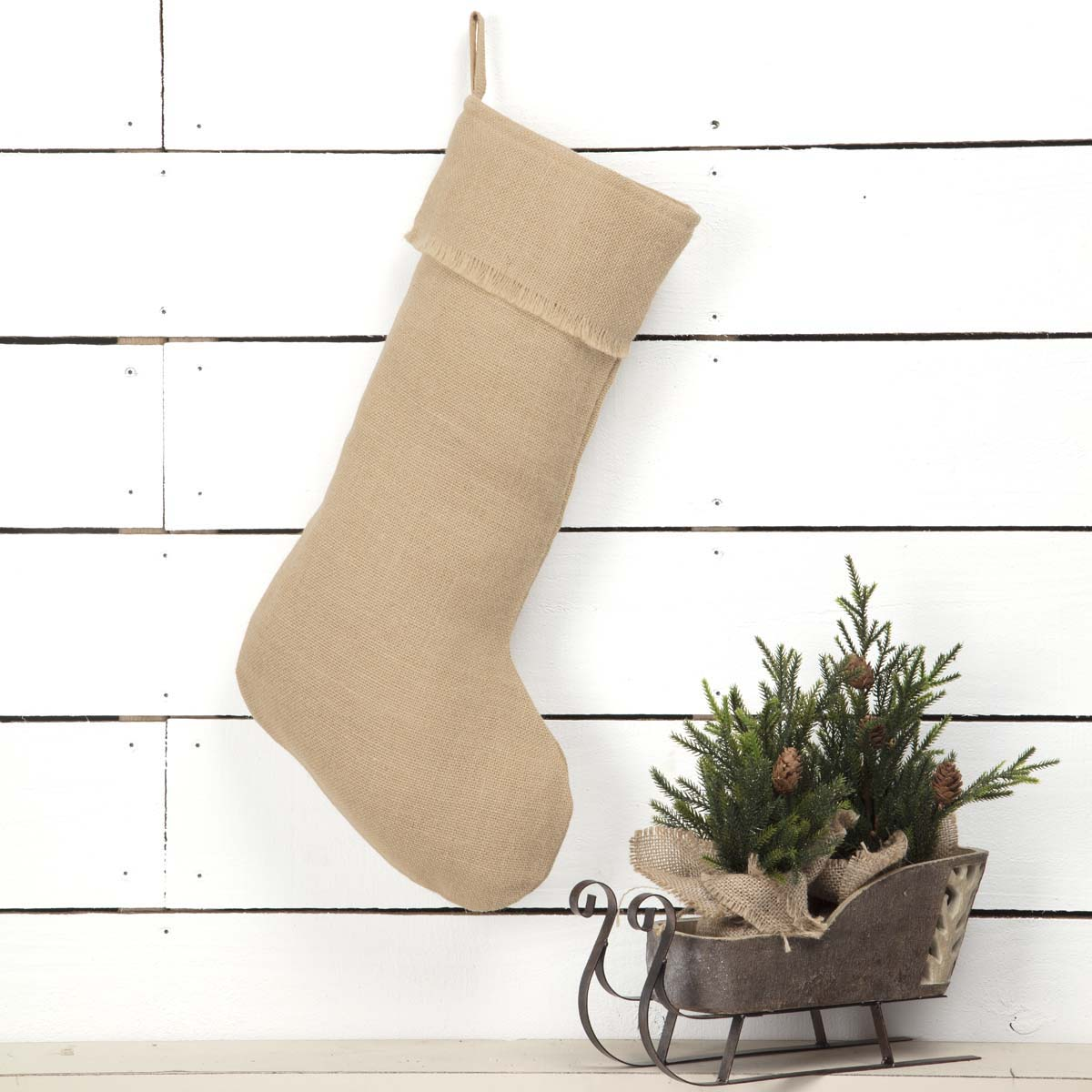 Jute Burlap Natural Stocking 12x20 - Woodrol