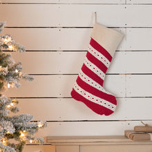 Margot Red Stocking 12x20 - Woodrol