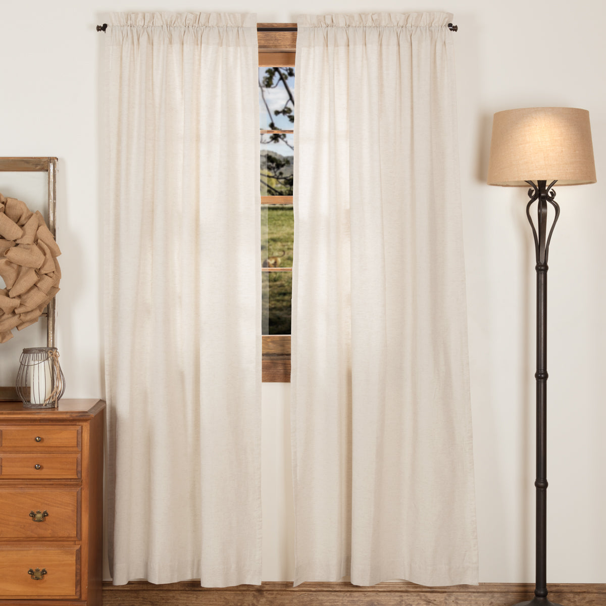 Simple Life Flax Natural Panel Set of 2 84x40 - Woodrol