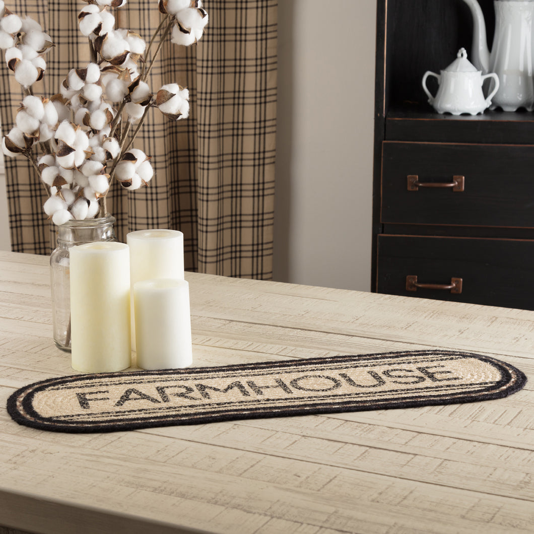 Sawyer Mill Charcoal Farmhouse Jute Oval Runner 8x24 - Woodrol