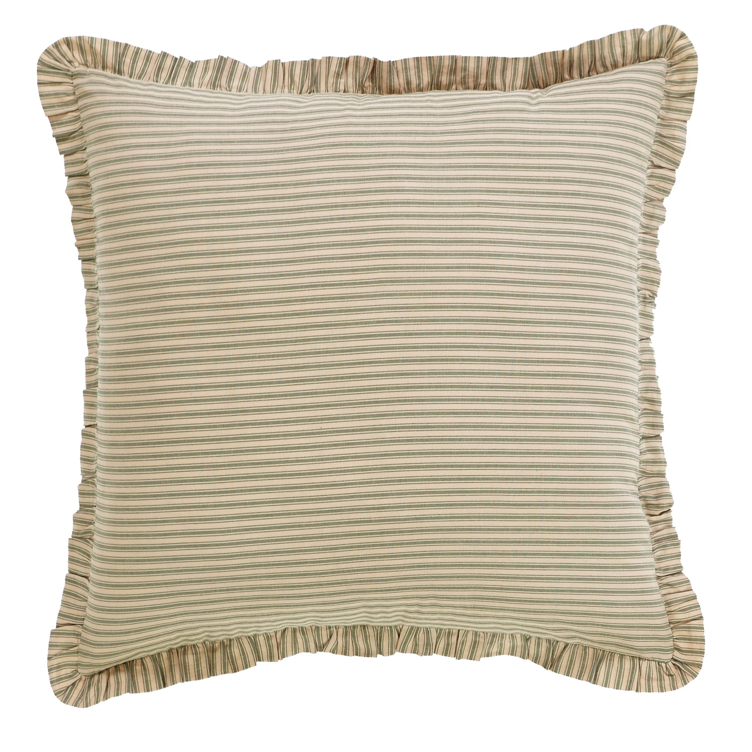 Prairie Winds Green Ticking Stripe Euro Sham 26x26 - Woodrol