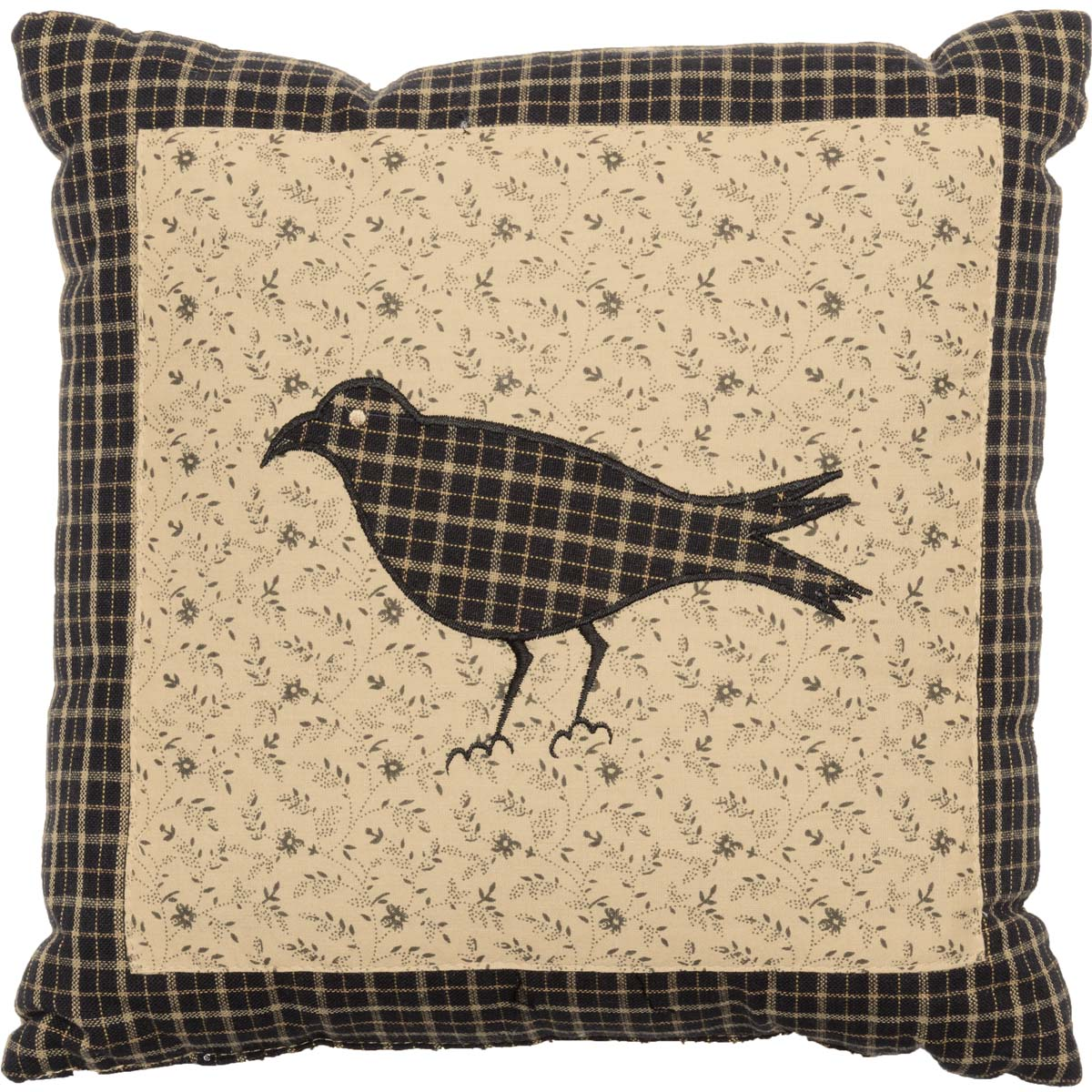 Kettle Grove Pillow Crow 10x10 - Woodrol