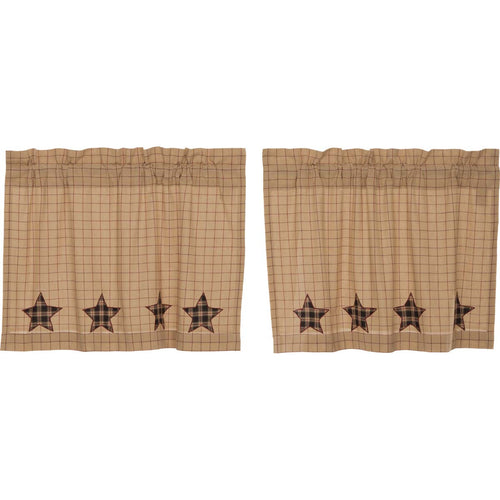 Bingham Star Tier Applique Star Set of 2 L24xW36 - Woodrol