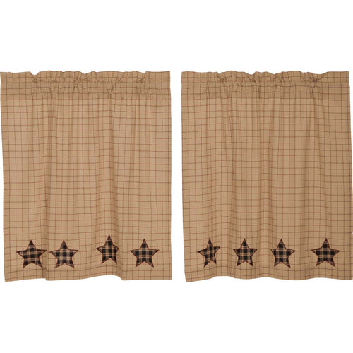 Bingham Star Tier Applique Star Set of 2 L36xW36 - Woodrol