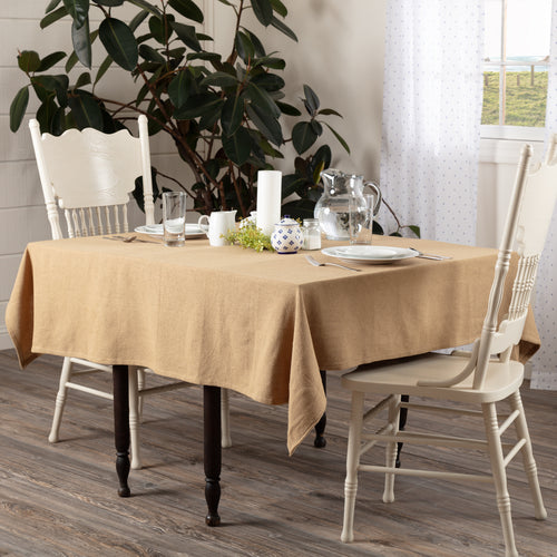 Burlap Natural Table Cloth 60x60 - Woodrol