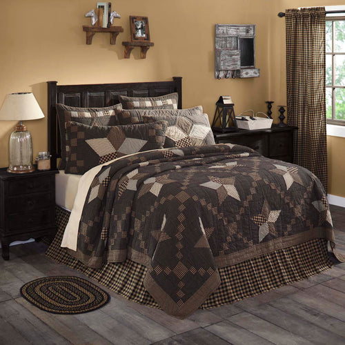 Farmhouse Star Luxury King Quilt 120Wx105L - Woodrol