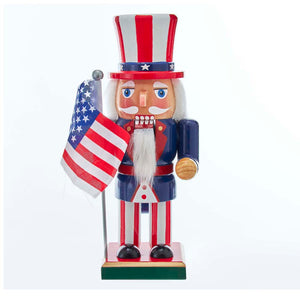 "9"" Wooden American Nutcracker"