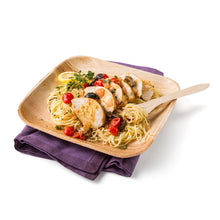 "Load image into Gallery viewer, Square Palm Plates 10"", Sustainable, Biodegradable and Disposable Leafware. Ideal for your dinner and event parties."