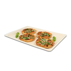 "16.5"" x 11"" Oblong Poplar Wood Tray  (200 count/case)"