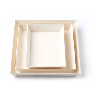 Catering Trays stacked together, comes in 3 sizes