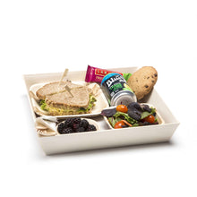 Load image into Gallery viewer, wooden square container trays for events and parties