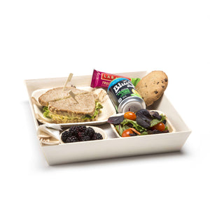 wooden square container trays for events and parties
