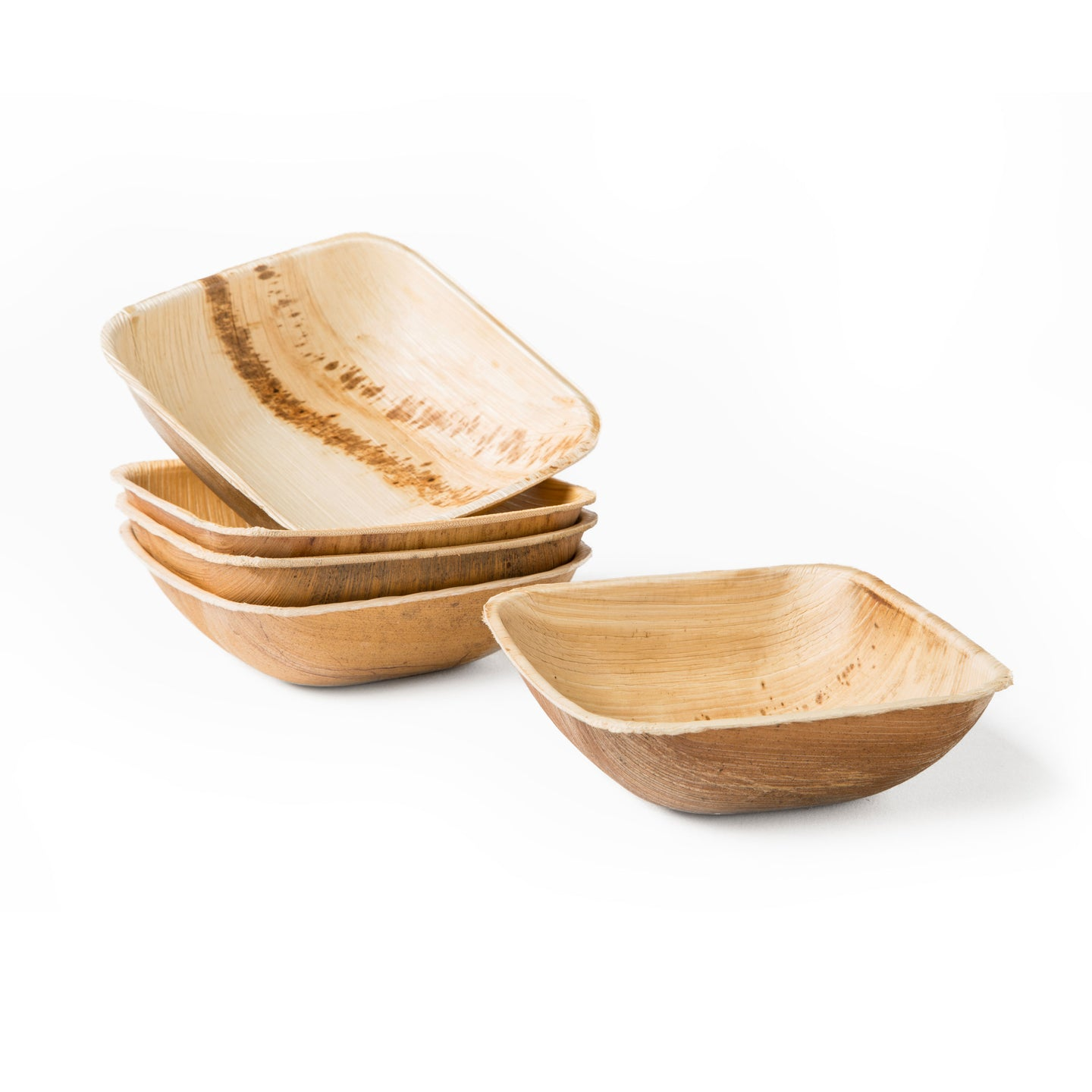 "4.5"" Square Palm Leaf Bowl"