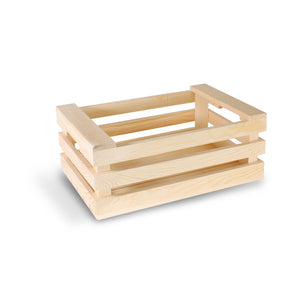 "9"" x 7"" Oblong Wooden Crate (12 count/case)"
