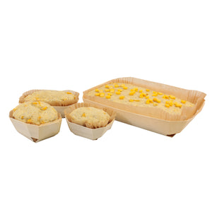 "7"" x 4"" x 1.5"" Baking Mould with Baking Liner  (120 count/case)"