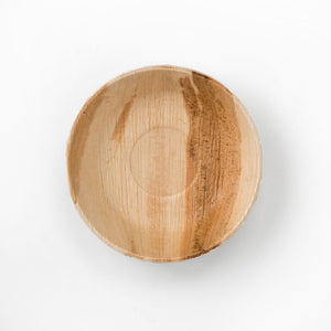 "7"" Round Palm Leaf Bowl"