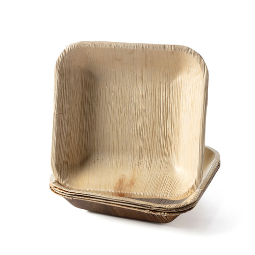 Large Square Palm Leaf Bowl Bulk and Wholesale