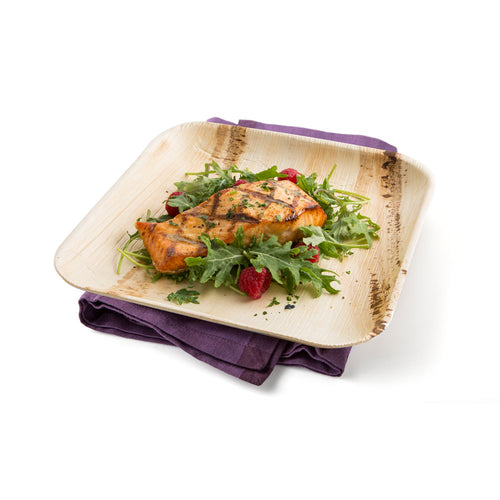 "9"" Square Palm Leaf Party Plates, perfect for everyday dining, events and occasions."