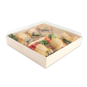 "POPLAR Collection 10"" x 10"" Oblong Pop Up Tray LID ONLY (100 count/case)"