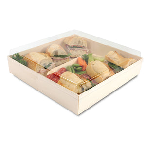 "POPLAR Collection 10"" x 7"" Oblong Pop Up Tray LIDS ONLY (200 count/case)"