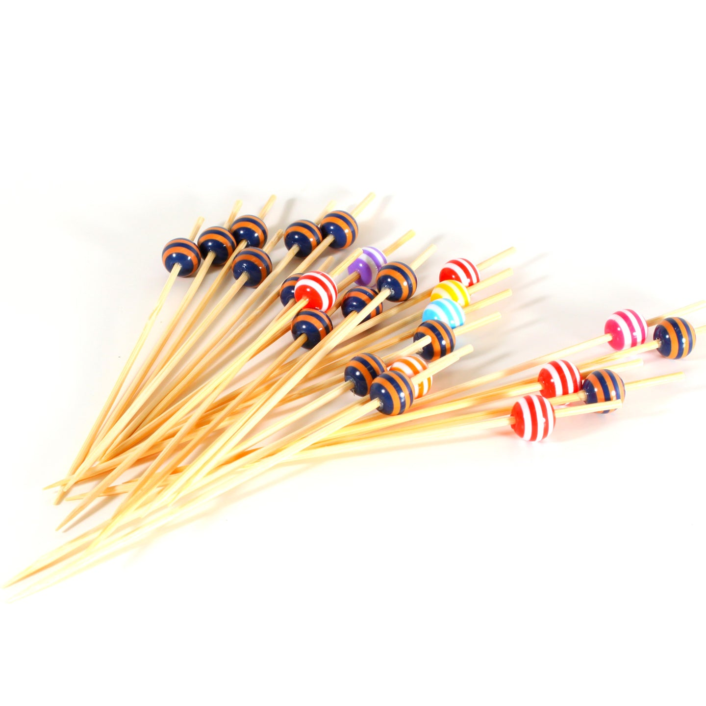 BP-2 Bamboo Multi Color Bead with Stripes Pick (4800 count/case)