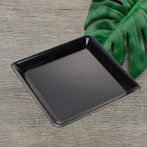 "EMI-712B Conserve 12"" Black Square Tray (25 Count)"