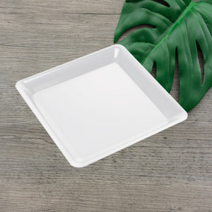 "EMI-712W Conserve 12"" White Square Tray (25 Count)"