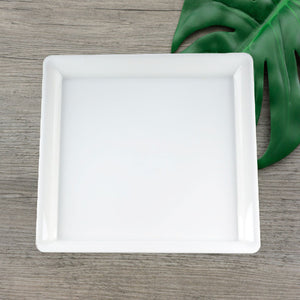 "EMI-714W Conserve 14"" White Square Tray (25 Count)"