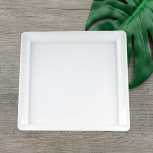 "EMI-718W Conserve 18"" White Square Tray (20 Count)"