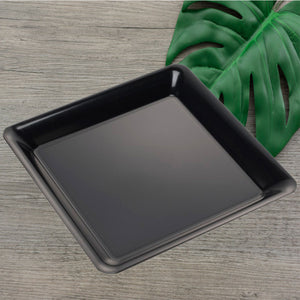 "EMI-718B Conserve 18"" Black Square Tray (20 Count)"