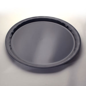 "EMI-760B Conserve 16"" Black Round Tray (25 Count)"
