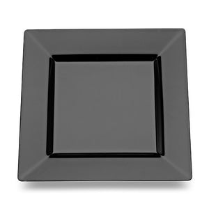 "EMI-SP11B Squares 10.75"" Dinner Plate - Black"