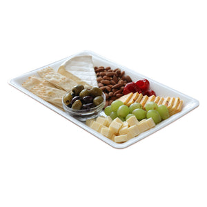 "EMI-71014W Conserve 10"" x 14"" White Rectangle Tray (25 Count)"