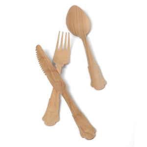 TreeChoice Classic Compostable Wooden Spoons (100 count)