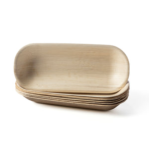 Palm leaf oblong tray platter serving plate bulk