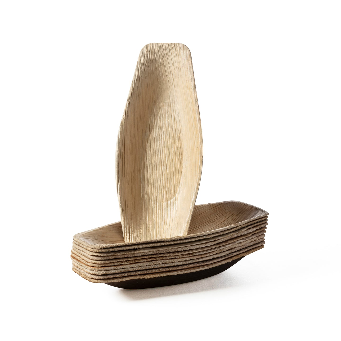 palm leaf mini boat bulk