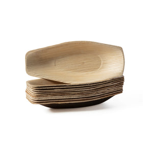 mini boat appetizer leaf plate