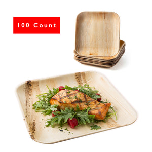 "9"" Square Palm Leaf Party Plates"